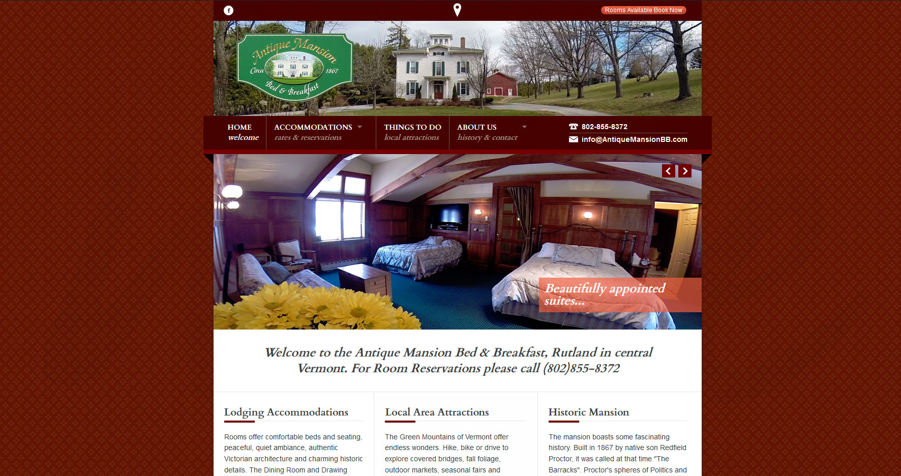 Antique-Mansion-Bed-and-Breakfast-website-design