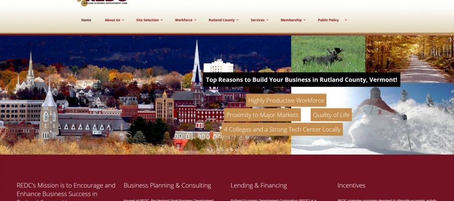 Website design for Rutland Economic Development Corp.