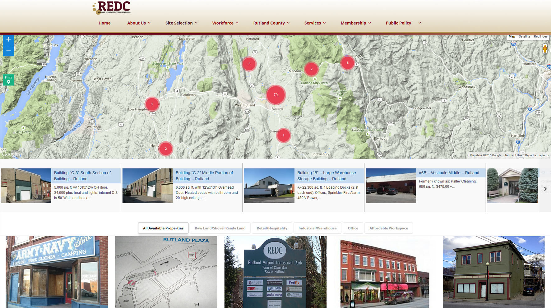 REDC-website-design-interactive-map