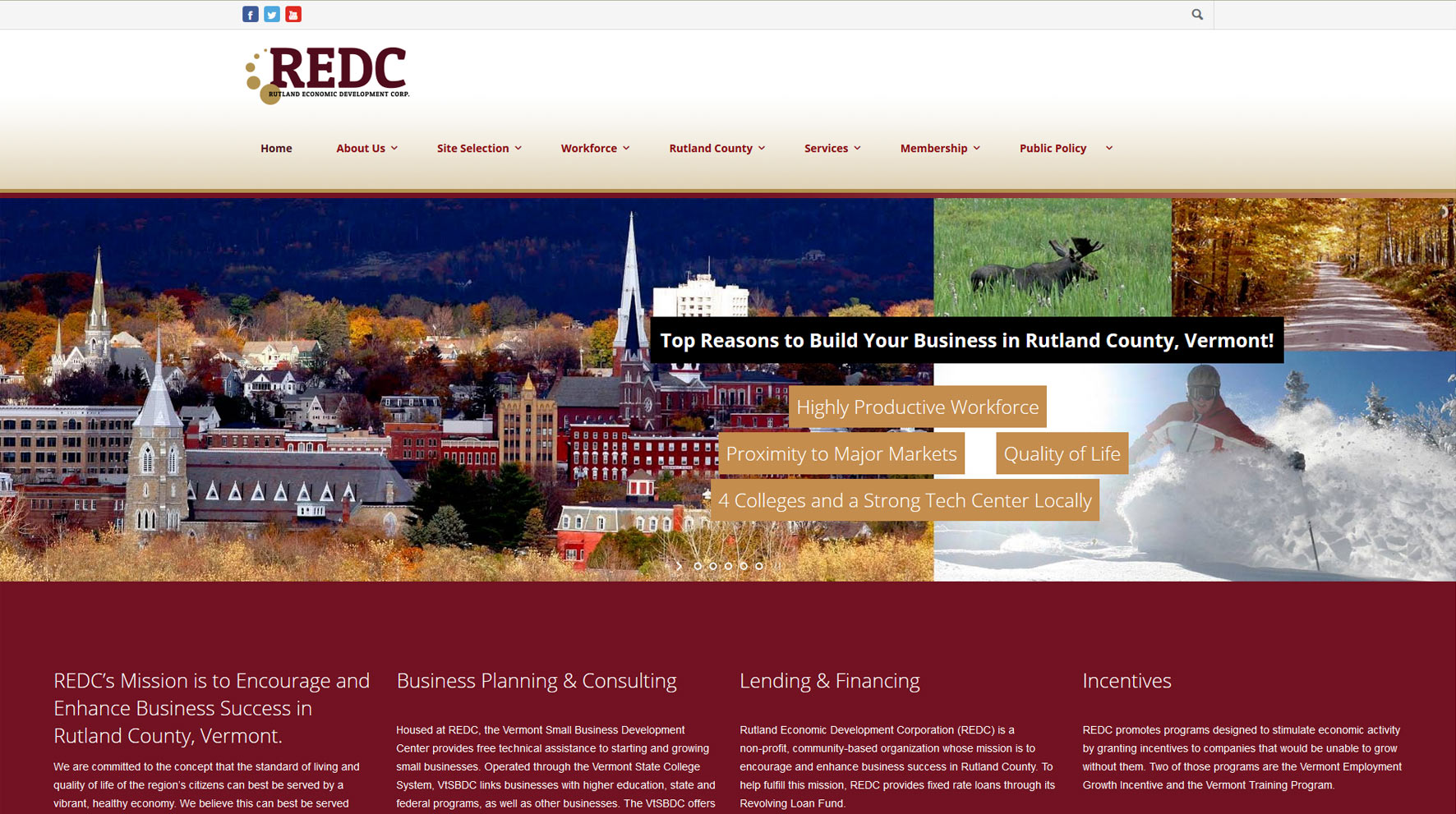 REDC-website-design