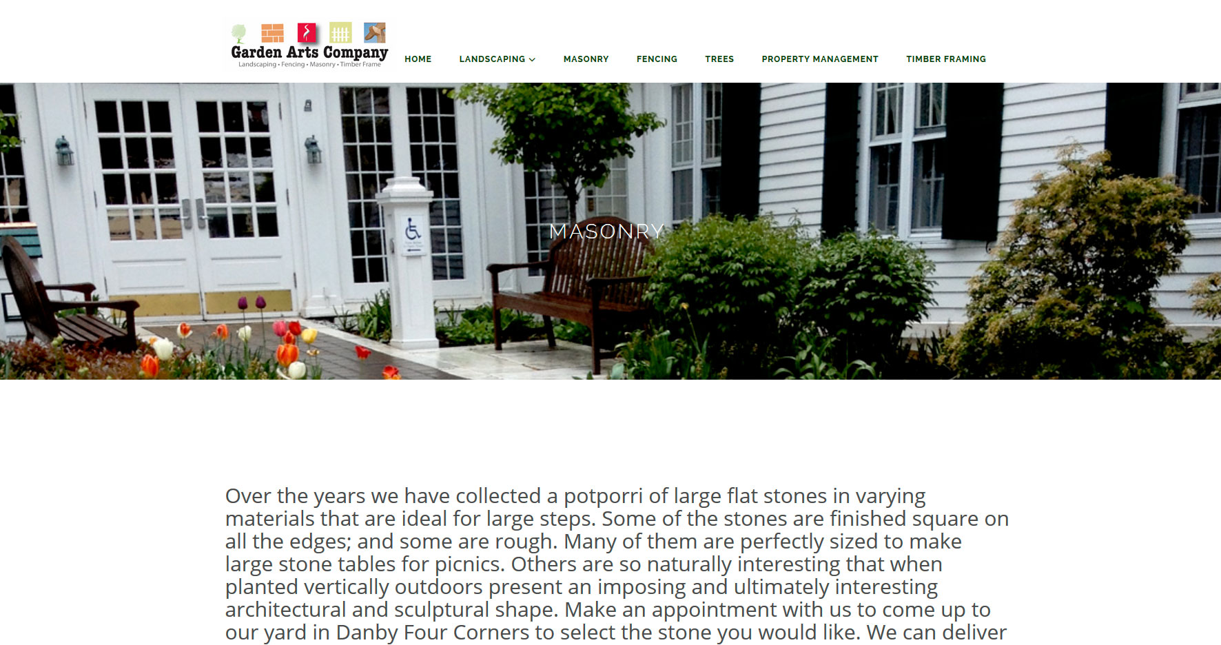 Website design vermont garden arts for Gardening jobs manchester
